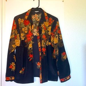 YOO JUNG Japanese button down blouse vintage small